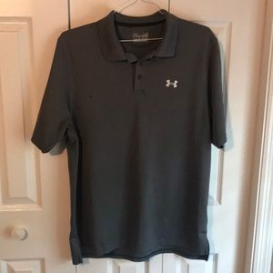 Under Armour Polo. Charcoal gray. Good condition.